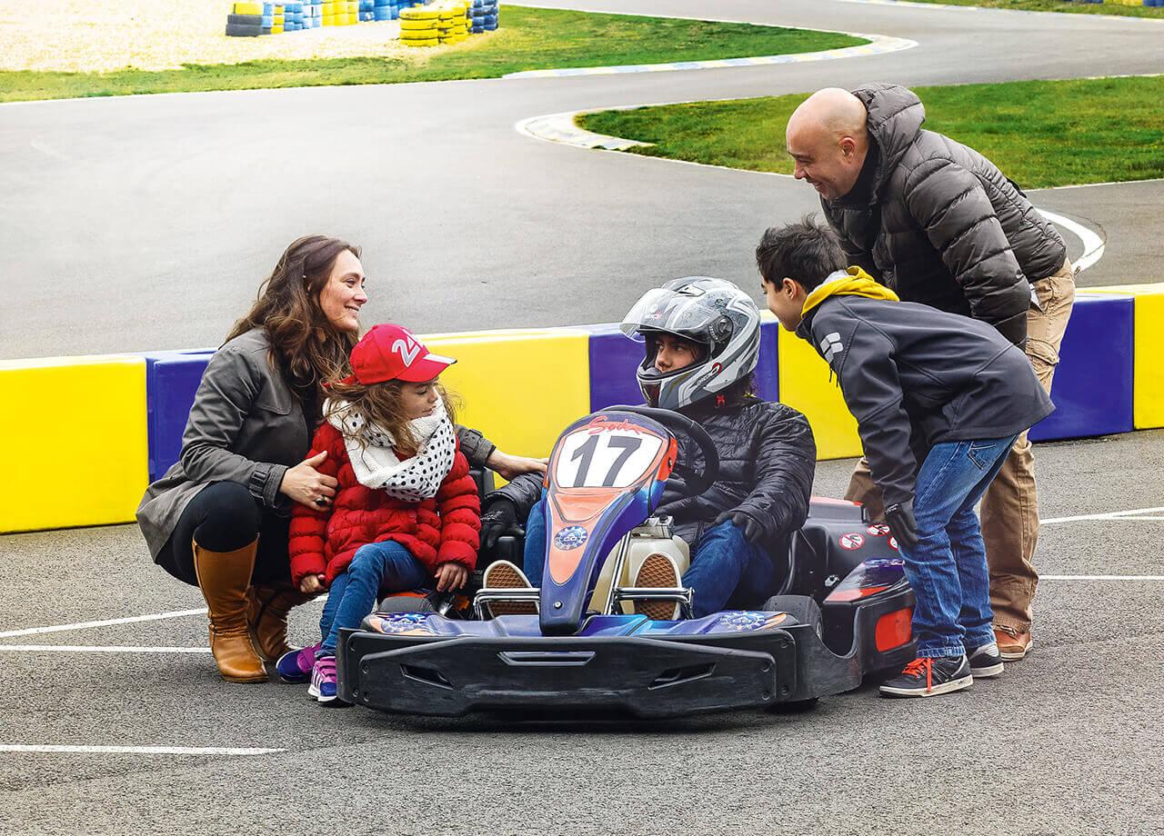 Karting en famille