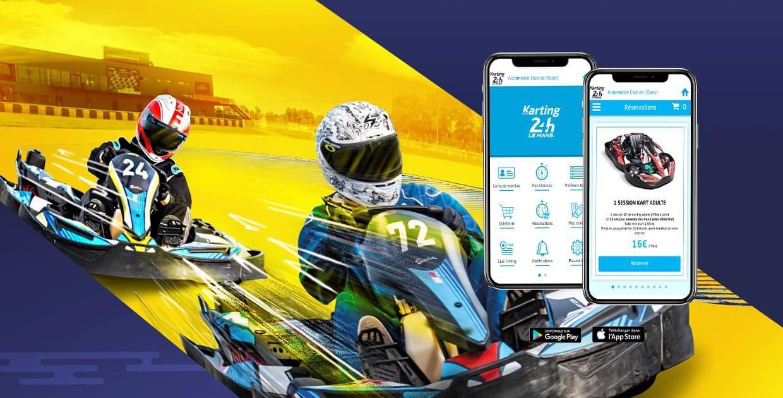 Téléchargez l'app karting